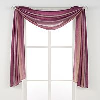 Achim Ombre Window Scarf - 144'' x 50''