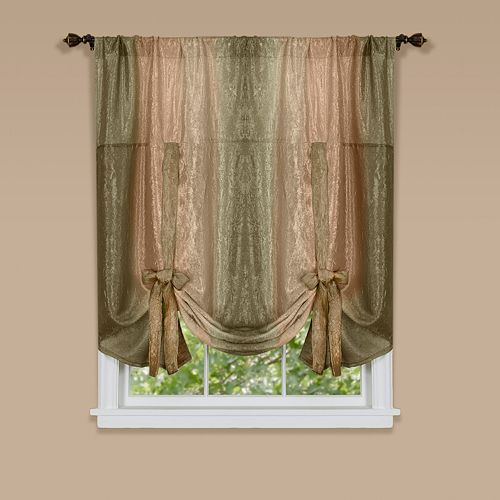 Ombre Tie-Up Window Shade - 50'' x 63''