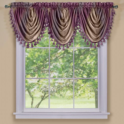 Ombre Waterfall Window Valance - 42'' x 46''