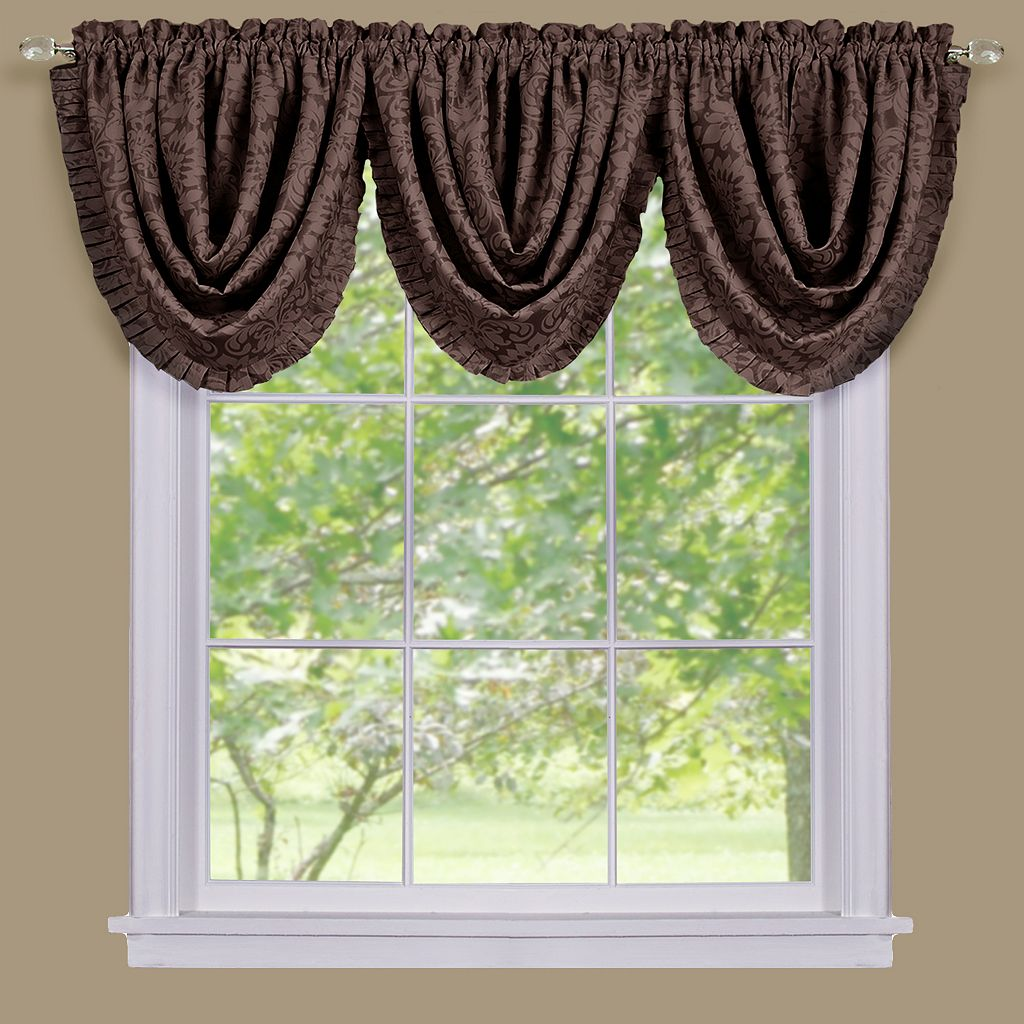 Sutton Damask Blackout Waterfall Valance - 36'' x 48''