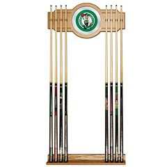 Boston Celtics Billiard Cue Rack with Mirror