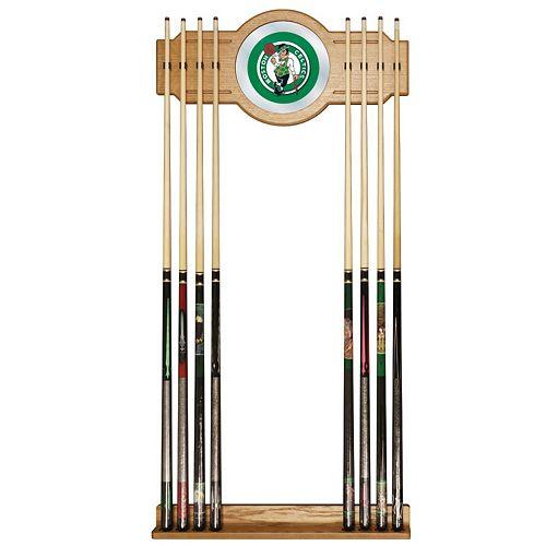 Boston Celtics Billiard Cue Rack with Mirror