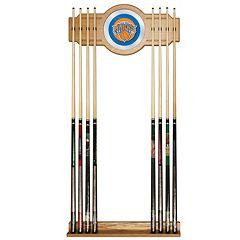 New York Knicks Billiard Cue Rack with Mirror