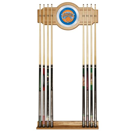New York Knicks Billiard Cue Rack with Mirror