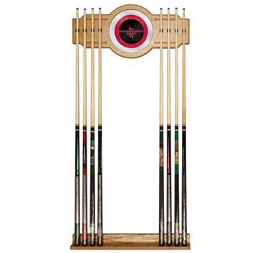Houston Rockets Billiard Cue Rack with Mirror