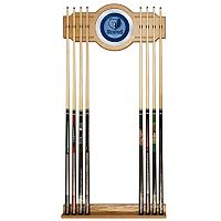 Memphis Grizzlies Billiard Cue Rack with Mirror