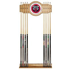 Chicago Bulls Billiard Cue Rack with Mirror