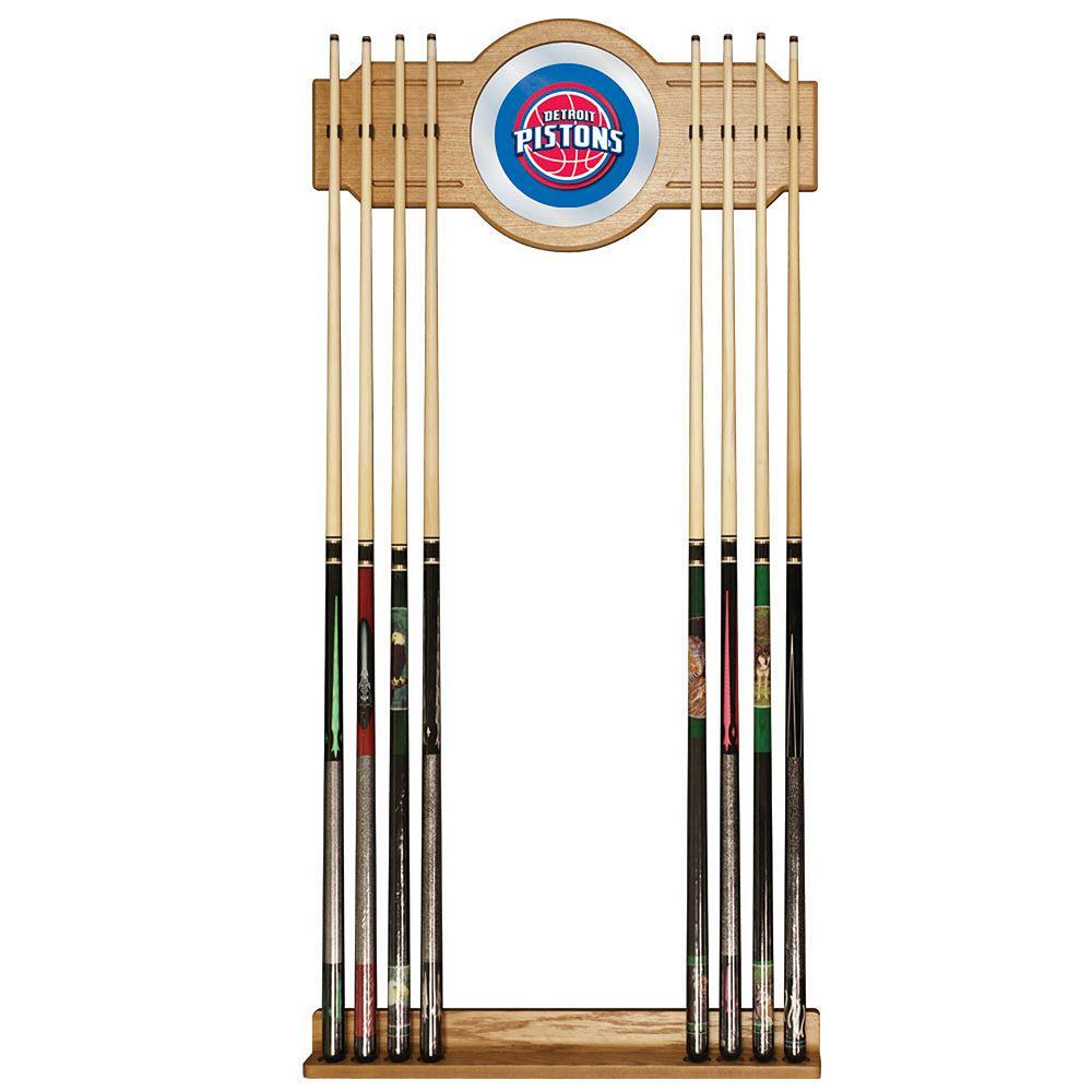 Detroit Pistons Billiard Cue Rack with Mirror
