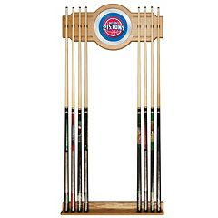 Detroit Pistons Billiard Cue Rack with Mirror