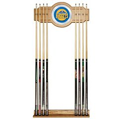 Denver Nuggets Billiard Cue Rack with Mirror