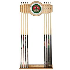 Milwaukee Bucks Billiard Cue Rack with Mirror