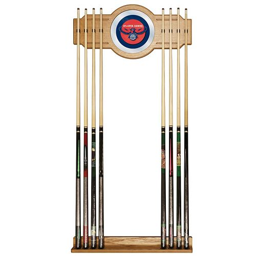 Atlanta Hawks Billiard Cue Rack with Mirror