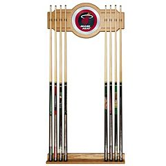 Miami Heat Billiard Cue Rack with Mirror