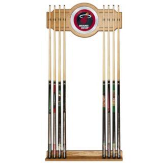 Miami Heat Billiard Cue Rack with Mirror