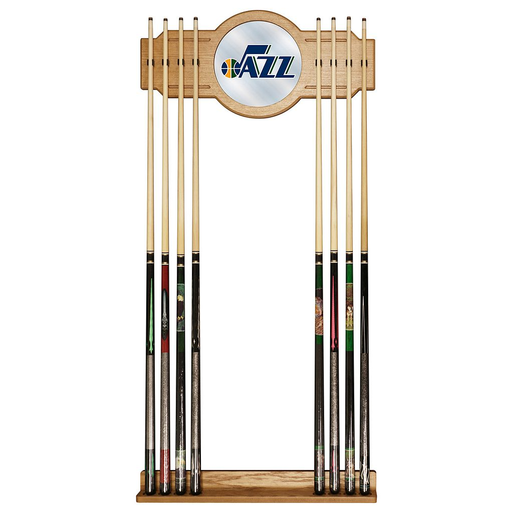 Utah Jazz Billiard Cue Rack with Mirror