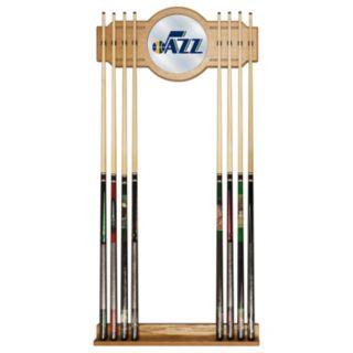 Utah Jazz Billiard Cue Rack with Mirror