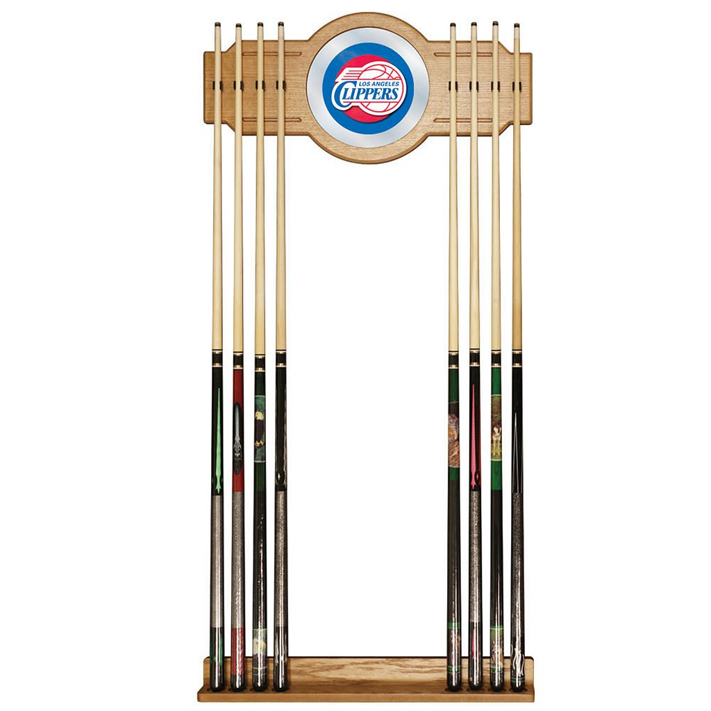Los Angeles Clippers Billiard Cue Rack with Mirror