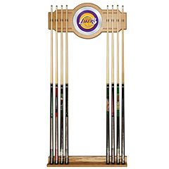 Los Angeles Lakers Billiard Cue Rack with Mirror