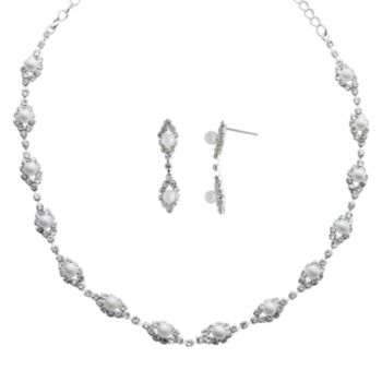 Crystal Allure Necklace and Drop Earring Set