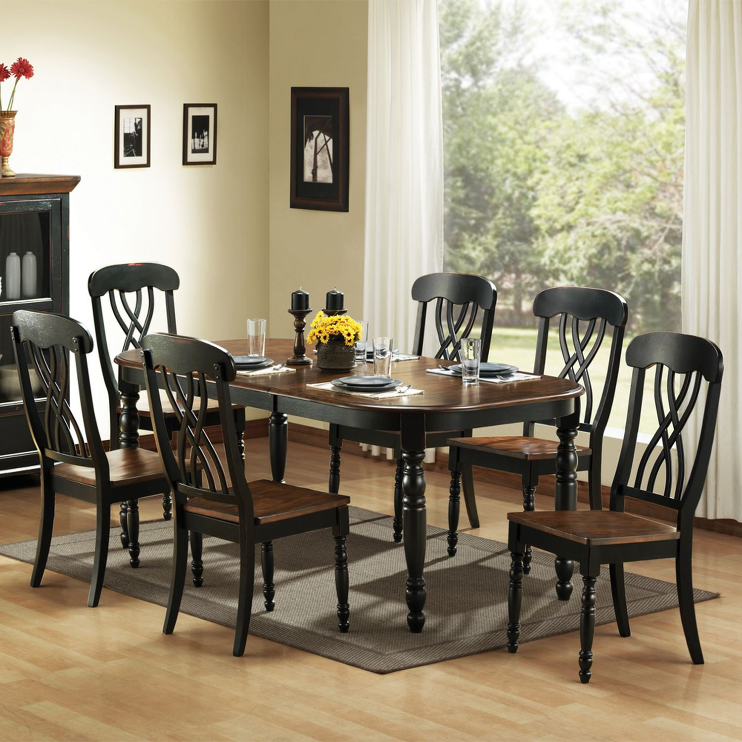 extendable dining table u0026 chair set