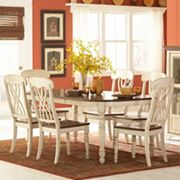 HomeVance Kaycee 7 pc Extendable Dining Table & Chair Set