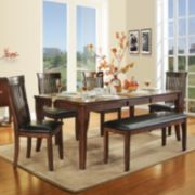 HomeVance Chesterfield 6-pc. Extendable Dining Set