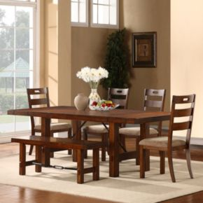 HomeVance Intarsia 6-pc. Extendable Dining Set