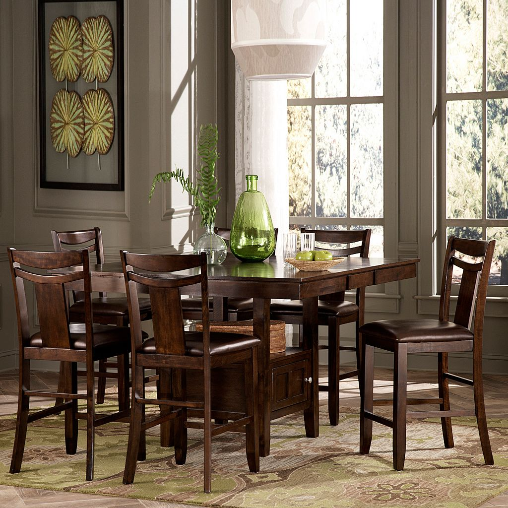 HomeVance Franklin 7-pc. Extendable Dining Table & Chair Set