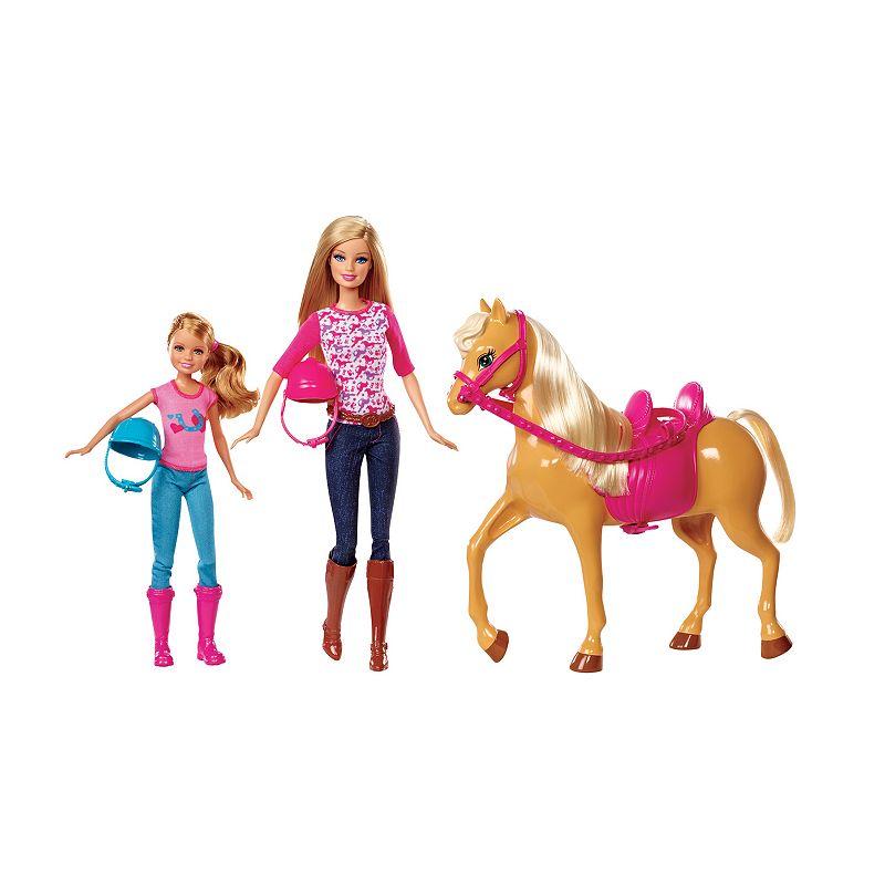 Barbie Pink-Tastic Horse & Dolls, Pink/Tawny