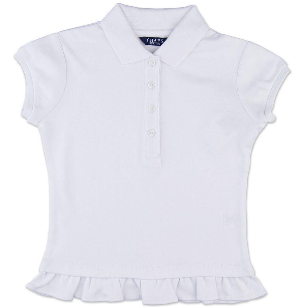 Girls 4-6x Chaps Ruffled Hem School Uniform Polo