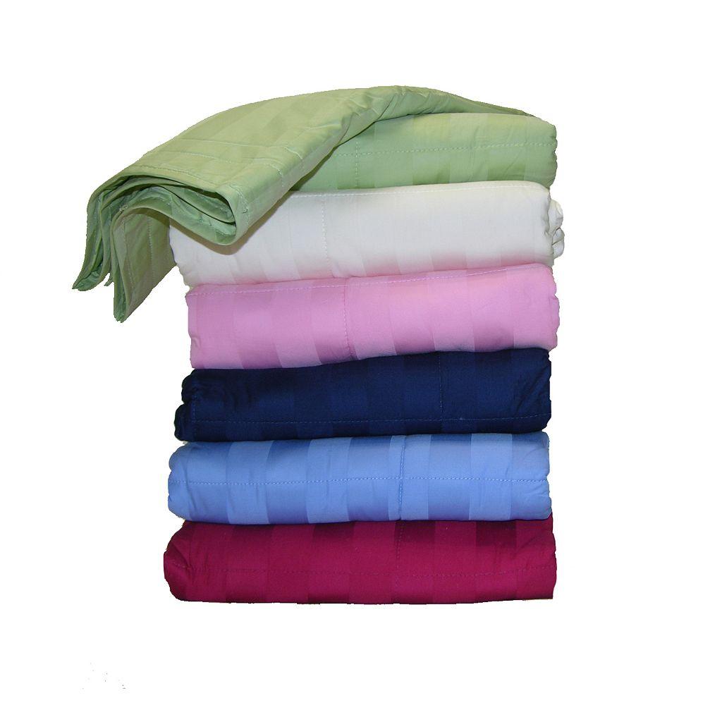 Cotton Loft 300-Thread Count Damask Stripe Throw