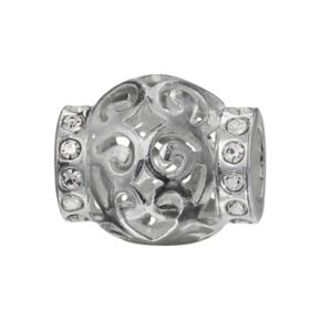 Individuality Beads Sterling Silver Crystal Filigree Bead