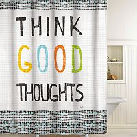 Think Good Thoughts Fabric Shower Curtain