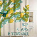 Songbird Fabric Shower Curtain