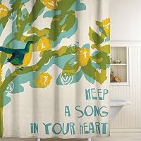 Songbird Fabric Shower Curtain