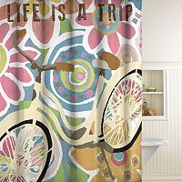 Life is a Trip Fabric Shower Curtain