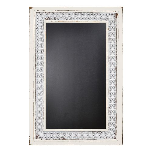sheffield home lace framed chalkboard wall decor
