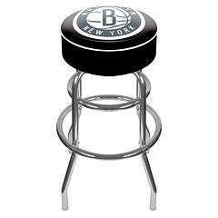 Brooklyn Nets Padded Swivel Bar Stool