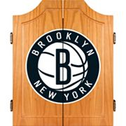 Brooklyn Nets Wood Dart Cabinet Set