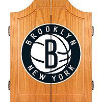 Brooklyn Nets Wood Dart Cabinet Set