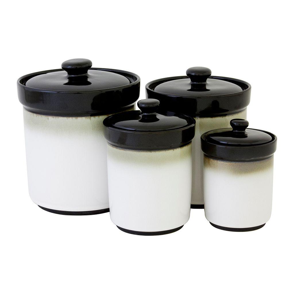 Sango Nova Black 4-pc. Kitchen Canister Set