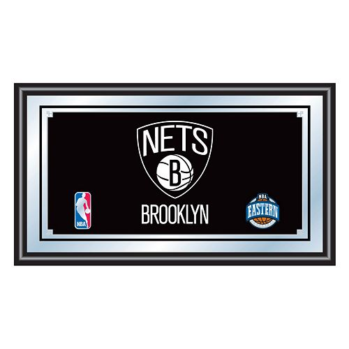 Brooklyn Nets Framed Logo Wall Art