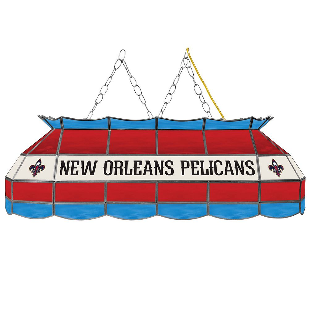 "New Orleans Pelicans 40"" Tiffany-Style Lamp"