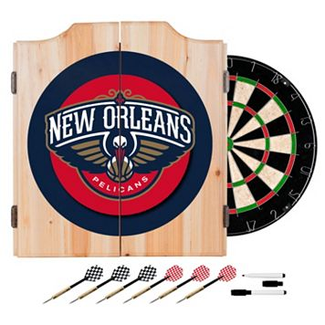New Orleans Pelicans Wood Dart Cabinet Set