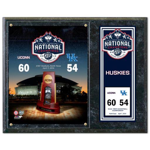 "UConn Huskies 2014 NCAA Men's Basketball Champions 12"" x 15"" Plaque"
