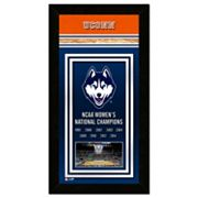 UConn Huskies 2014 NCAA Women's Basketball Champions 14.5' x 27.5' Framed Banner