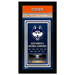 UConn Huskies 2014 NCAA Women's Basketball Champions 14.5' x 27.5' Framed Banner