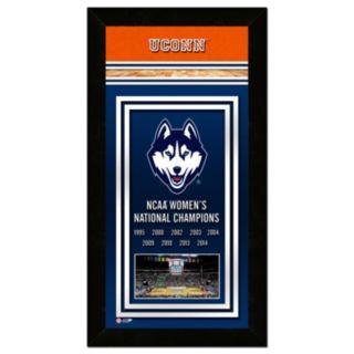 "UConn Huskies 2014 NCAA Women's Basketball Champions 14.5"" x 27.5"" Framed Banner"