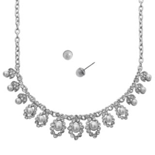 Crystal Allure Necklace and Stud Earring Set