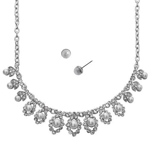 Crystal Allure Necklace & Stud Earring Set